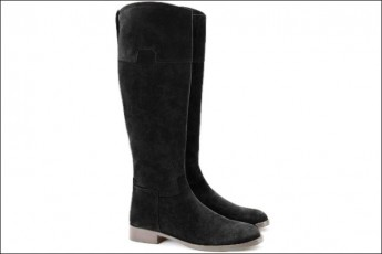 Suede Tall Boots Black