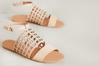 Corso caged Flat Sandals