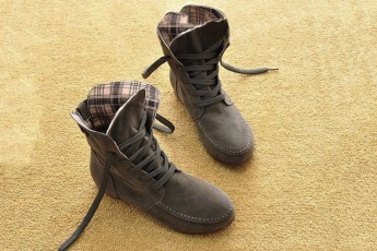 Motorcycle Ankle Boots Grey