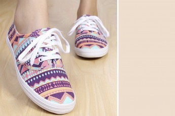 Geometric Pattern Champion Sneaker