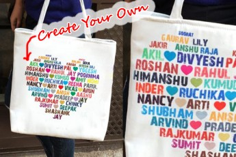 Personalized Heart Full of Love Tote
