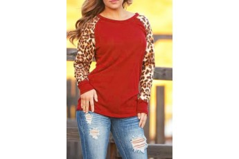 Myself Clear Long Sleeve Top (Red)