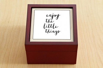 Enjoy The Little Things Jewellery Box