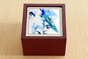 Shades Of Blue Jewellery Box
