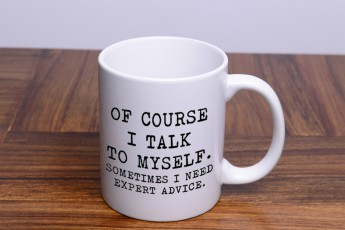 Ofcourse I Talk to Myself Mug