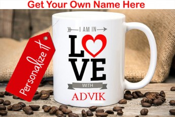 Personalised I am in Love With Mug