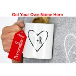 Personalized Couples Heart Mug