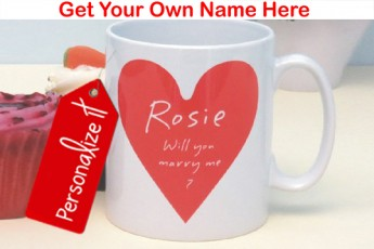 Personalised Will You Marry Me Mug