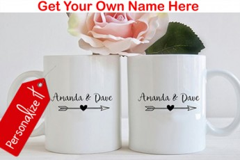 Set of 2: Personalised Wedding gift mug