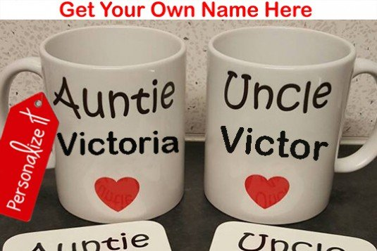 Set of 2: Personalized Message Mug