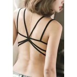 Back Strip Black Bra