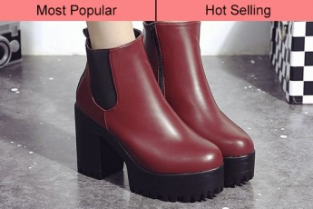 Second Prances Boots Wine Red