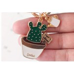 Green Cactus Keychain