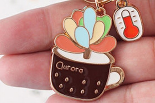 Colored Plant Keychain