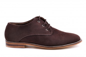 Mens Synthetic Suede Oxford Brown
