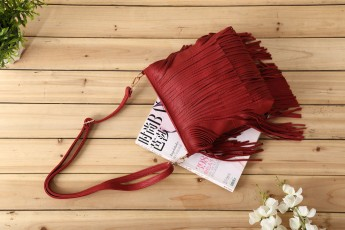 Lots of fringe Bag Marsala