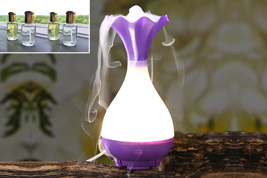 Fancy Purple Aroma USB Diffuser with four frangrances