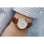 Genuine Leather Strap Watch brown