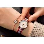 Striped Strap Watch red