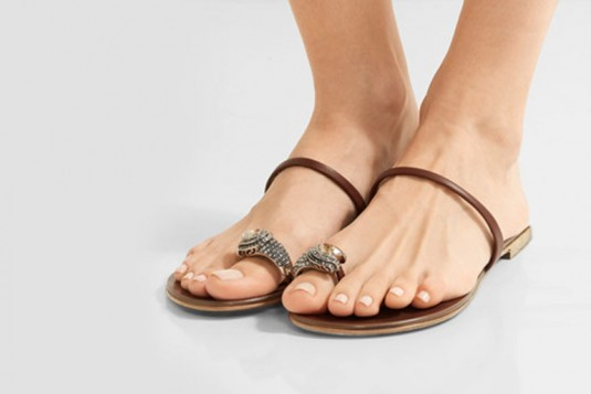 Coffee Brown Accessory Flat