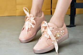 Womens Pink butterfly Sneakers