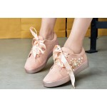 Womens White butterfly Sneakers