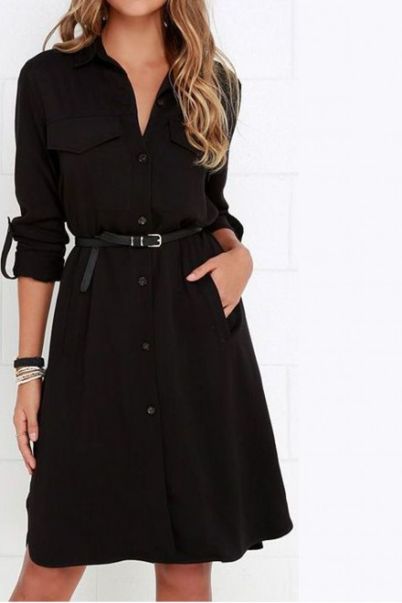 Trade Black Dress without belt