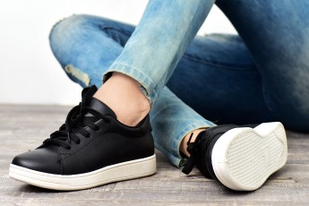 Happiness and Cheers Black Sneaker