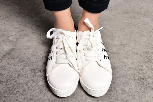 White Stiched Sneakers