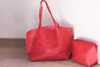 Set of 2-Posh Preparedness Bags Red