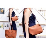 Set of 2-Holding Pattern Bags Brown