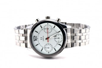 Silver chain watch