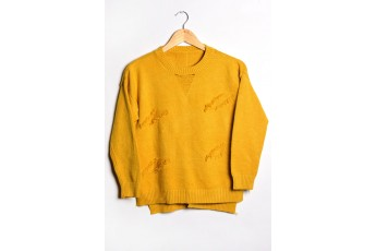 Ribbed Yellow Sweater