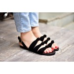 All For Knot Black Flats