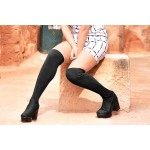 Trendy socks boots Black