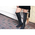 High Fasten Lace Up Boots