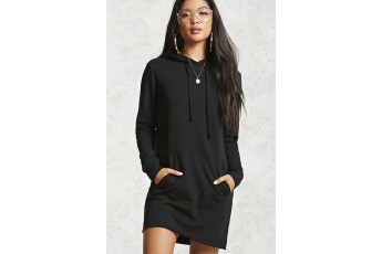 A French terry knit mini dress