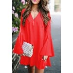 Break out tunic dress red
