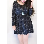 Carrierist Polka dot dress with necklace