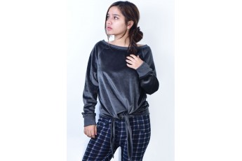 Life of the party Top Dark Grey