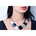 Lovely neklace in silver and black