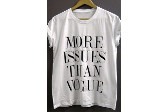 More issues than Vogue - White