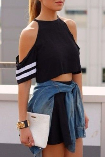 Black Fashionable top