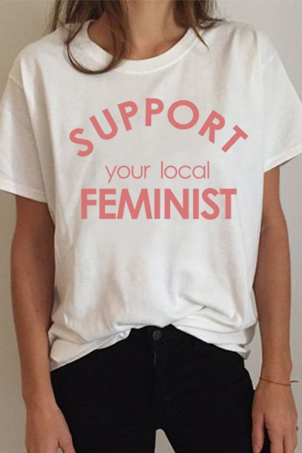 Support your local feminist t-shirt
