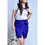 Set- Ice cream printed top with skirt