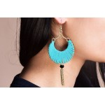 Turquoise strap earrings