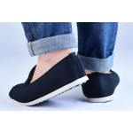 Woven Black loafers