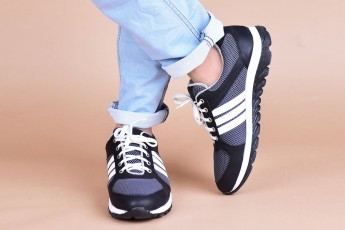 Grey and white Sport shoes