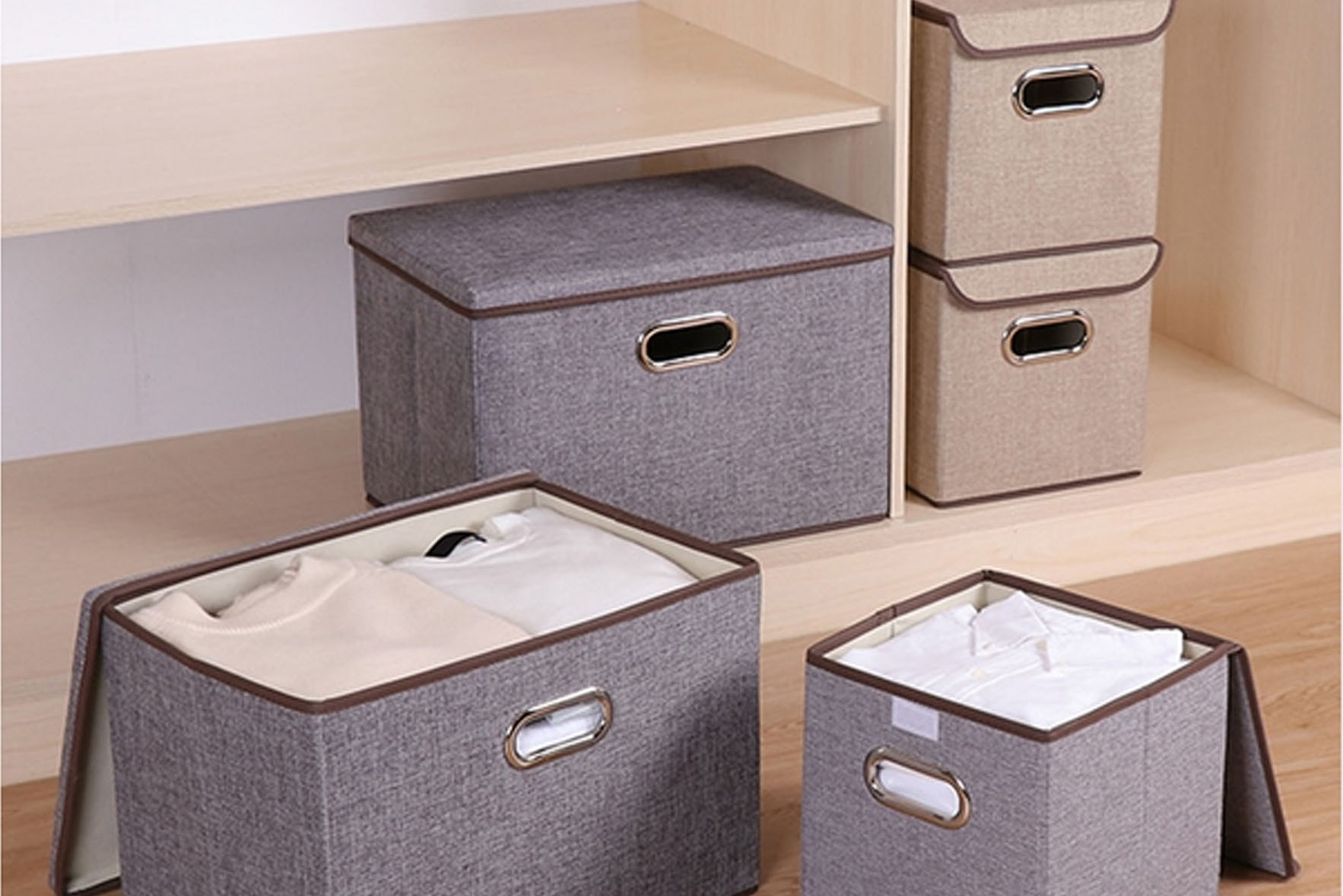 Foldable oxford storage box