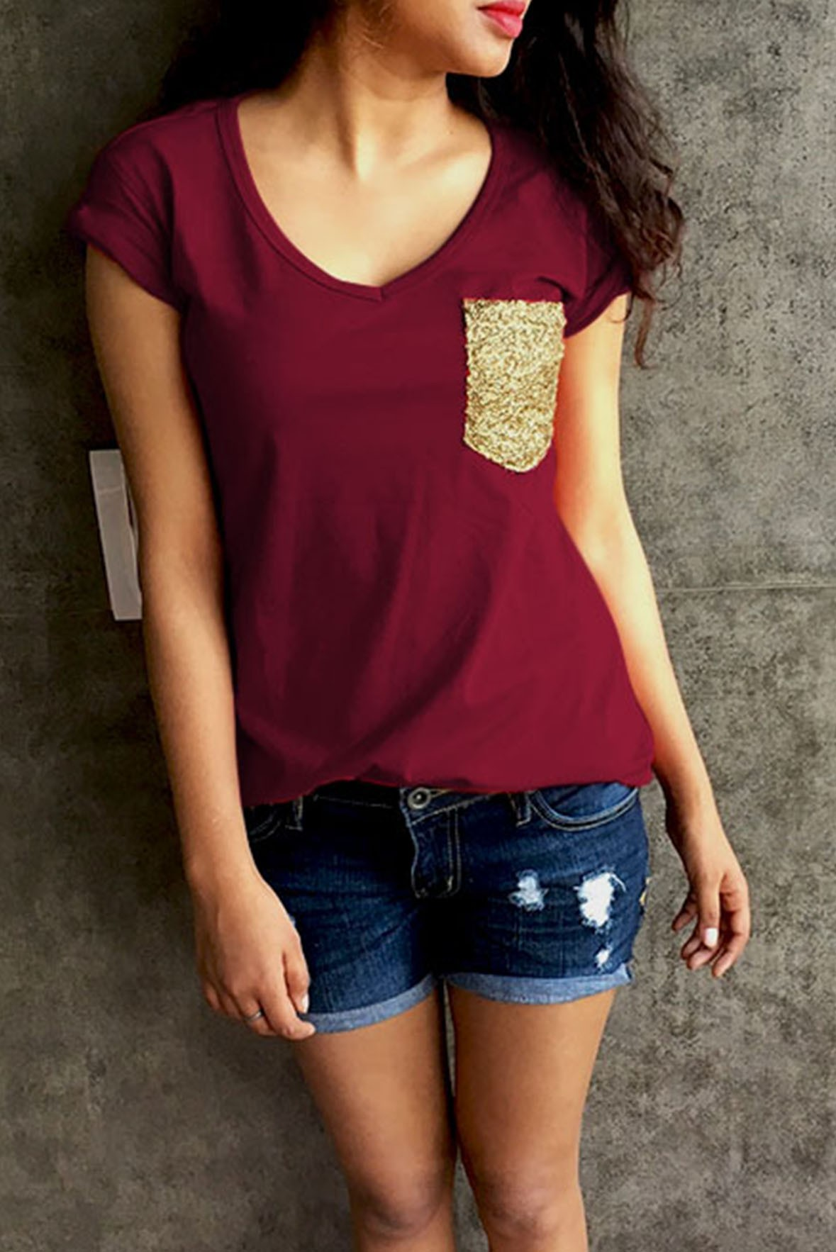 Love Is Beautiful Top Marsala